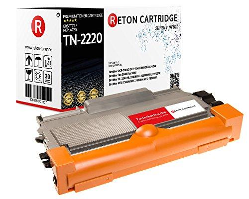 Reton XXL Toner 10.400 Seiten kompatibel zu Brother TN 2220 TN-2220 TN-2010 für Brother DCP 7060D 7065DN 7070DW Fax 2840 2845 HL-2240 HL 2240D 2250DN 2270DW MFC 7360N 7460DN 7860DW