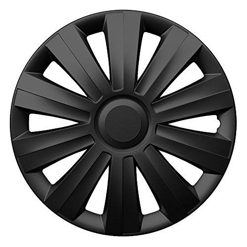 CM DESIGN 14 Zoll Radzierblenden Snake Black (Schwarz). Radkappen passend für Fast alle Ford wie z.B. Fiesta MK3
