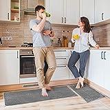 Delxo Kitchen Rug Sets,2 Piece Non-Slip Soft Super Absorbent Kitchen Mat Doormat Carpet Set,Chenille...