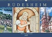 Ruedesheim - Rhein, Riesling, Romantik (Wandkalender 2022 DIN A3 quer): Ruedesheim am Rhein - Zentrum feucht froehlicher Rheinromantik. (Monatskalender, 14 Seiten )