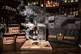 ONLY COMPLETE PACKAGE - Smoke Boards is the only kit to include all components needed to infuse a cocktail. 3 different woodchips - Cherry, Apple & Pecan, Torch, Mason Jar & Whiskey Barrel Smoke Board SIMPLE AND EASY TO USE - Smoke Boards is the perf...
