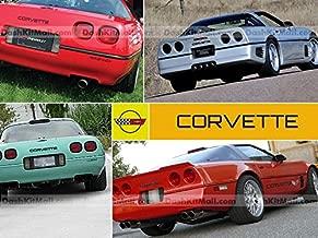 SF Sales USA - Black Front & Rear Bumper Letters fit Corvette C4 1984-1990 Plastic Inserts Not Decals