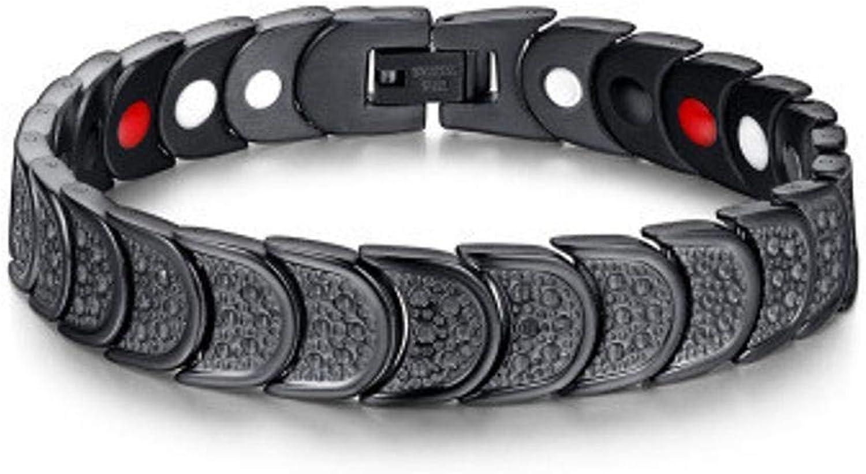 Zicue Stylish Charming Bracelet Exquisite Ornaments Men's Bracelet Magnet bracelet titanium steel bracelet plated black bracelet 22.5cm12mm