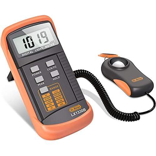 Dr.meter Luxmetro Digitale Gamma Fino a 200,000 Lux, Luxmetro digitale con Precisione Elevata, Reazione Veloce e Trattenimento dei Dati
