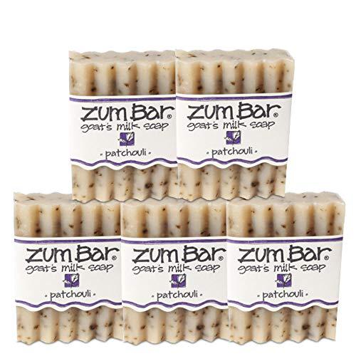 Indigo Wild Zum Bar Goat's Milk Soap, Patchouli - 5 Pack
