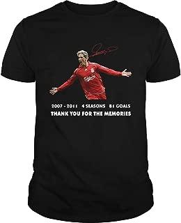 Fernando torres 20072011 4 seasons 81 goals thank you for the memories signature shirt, Short Sleeves Shirt, Unisex Hoodie, Sweatshirt For Mens Womens Ladies Kids