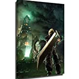 Canvas painting canvas pictures for living room wall Final Fantasy 7 Cloud Strife Buster Remake posters 12x16inch