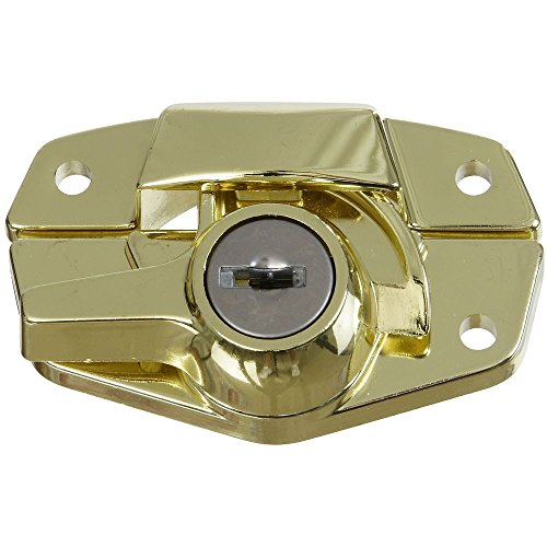 National Hardware N183-723 VKA821 Keyed Sash Lock in Brass