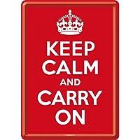Keep Calm and Carry On/ポストカード はがき (ブリキ製)