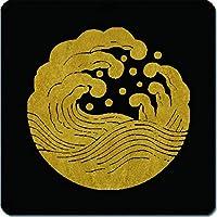 家紋 捺印マット 波紋 11cm x 11cm KN11-2553