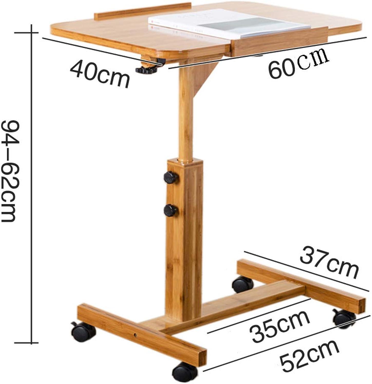 HQCC Hhenverstellbare Home Krankenpflege Tisch, Bett Sofa Beistelltisch Laptop Tisch (gre   60  40cm)