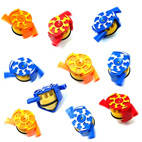 Save %10 Now! FunPa 15PCS Spinning Top Decompression Funner Party Whistle Toy Wind Gyro for Kids Hom...