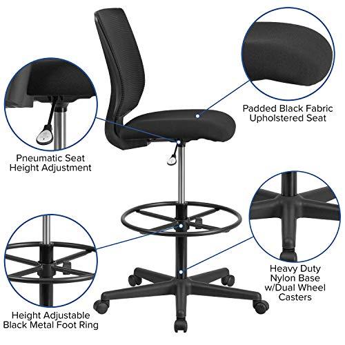 Flash Furniture Ergonomic Mid-Back Mesh Drafting Chair