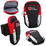 DURAGADGET Black & Red Polyester Holder with Multiple Pockets - Suitable for The Mionix Avior 8200