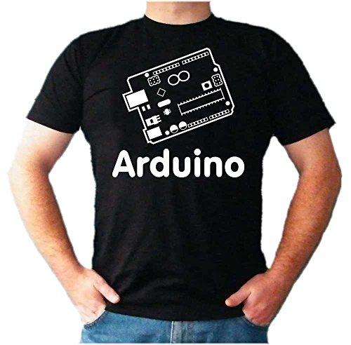Arduino-T-Shirt, UNO, Leonardo, Mega, Informatik-Nerd, Micro-Controller, C++ Gr. XXXL, schwarz