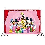 Fondo de Tela Mickey Minnie Mouse HANEL-Mickey Tapiz Sala de Estar Dormitorio hogar Decorativo Arte de la Pared Cartel para decoración de fiesta de cumpleaños para niños y bebés