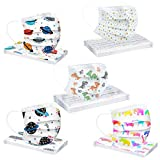 Product Image of the 3 Ply Non-Woven and Breathable, Cute Cartoon 50Pcs Face+Bandanas with Cute...