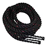 SGT KNOTS Twisted Battle Ropes Battle Rope - Workout Rope Heavy - Weighted Exercise Rope - Strength Training Rope - Fitness Rope for Crossfit, Battling, Work Outs, Climbing, The Gym (1.5 in x 40 ft)