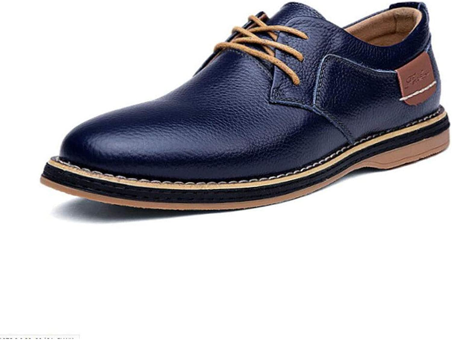 Y-H Men's Casual shoes,Leather Spring Fall Business shoes,comfortable Breathable Lace Up Formal shoes,Walking shoes Office & Career Party & Evening