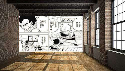 LJIEI Dragon Ball Black and White Comic Fototapete 210 x 140 cm – Wandtapete Wanddeko – Tapete