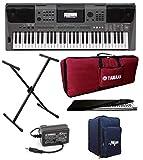 Mexa Yamaha Keyboard PSR-I500 Digital Portable Touch Sensitive 61-Keys Keyboard With Gig Bag; Stand;...