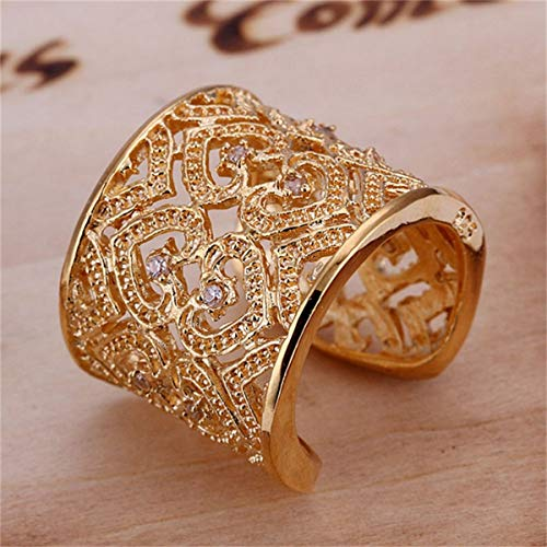 Greatangle R107 Silver plated finger ring for ladyworldwise Gold