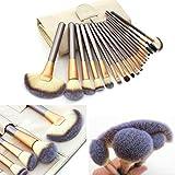 Juego profesional de brochas STONCEL para maquillaje, fabricadas con mango de madera, alta calidad, incluye pinceles para base de maquillaje