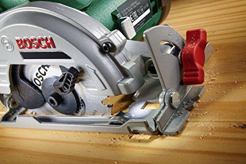 Bosch 12V Akku Mini Handkreissäge UniversalCirc 12 mit Akku, Ladegerät, Sägeblatt für Holz, Absaugadapter, Parallelanschlag, Karton (12 Volt System, 2,5 Ah) - 6
