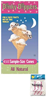 Dinky Dippers Miniature Ice Cream Cones Bulk Pack 450 Count Bundled with PrimeTime Direct 20ct Dental Flossers in a PTD Se...