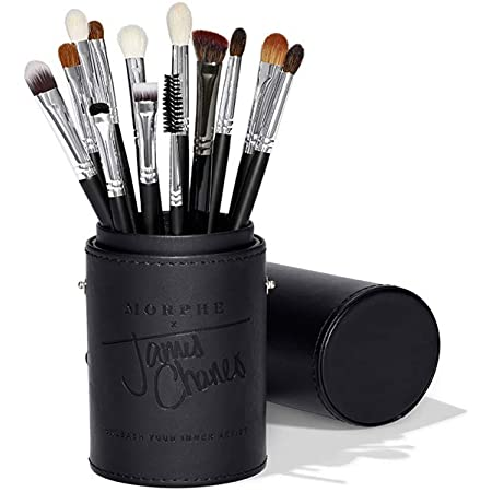 Morphe X James Charles Eye Brush Set Curated Set Of 13 Full Sized Eye Brushes For Creating Colorful Blended Looks On The Go Natural And Synthetic With A Custom Tubby Beauty