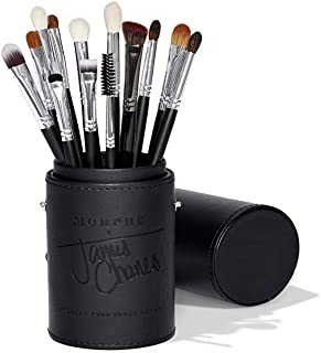 Morphe x James Charles Eye Brush Set - Curated Set of 13 Full-Sized Eye Brushes for Creating Colorful, Blended Looks On-Th...