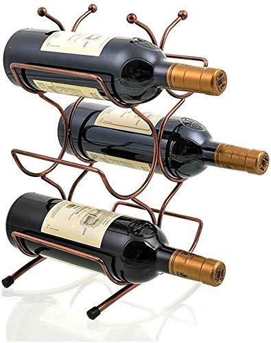 HJXSXHZ366 Estantería de Vino El Hierro Forjado botellero botellero la decoración del hogar Minimalista Moderna Marcos Decorativos creativos Botella roja Estante de Vino pequeño