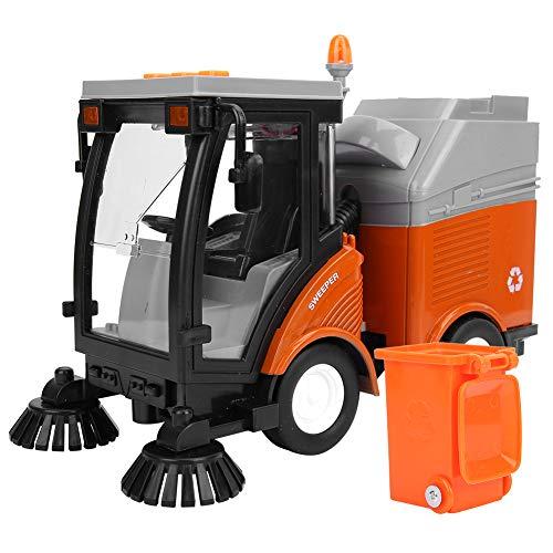 Tnfeeon Simulación Saneamiento Modelo de automóvil Vehículo de Motor de Juguete con música e iluminación Modelo de camión de Basura Alimentado por fricción para niños