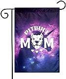 YeeATZ Pitbull Dog Mom Double Sided Flag 12x18 Inch Courtyard Garden Durable...