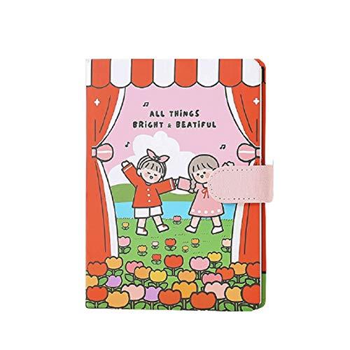 ZANZAN Cuadernos de Notas Cuaderno de Hebilla magnética 3D Variedad de páginas internas para niños Diaries Suministros Escolares 18x13cm / 7x5.1 Pulgadas blocs de Notas (Color : D)