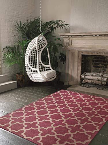 Benuta Alfombra Arabesque Rosa 140 x 200 cm   Moderna Alfombra para salón y Dormitorio
