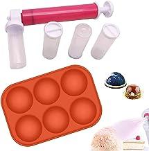 badewanne Pistolet pulvérisateur en plastique pour gâteau, pâte à pâtisserie, pistolet de pulvérisation de couleur avec 4 ...