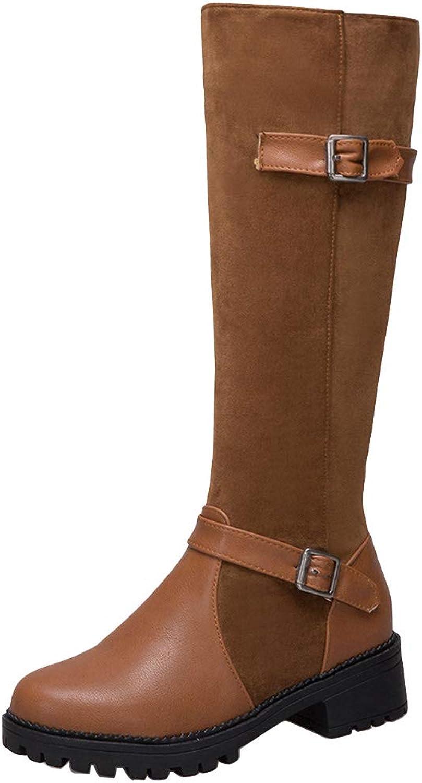 RizaBina Women Equestrian Boots Knee High Boots Zipper