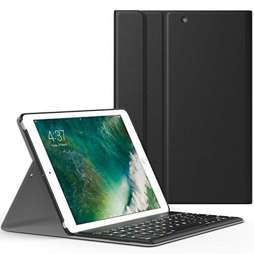 MoKo Funda para New iPad 9.7 Pulgada 2017 - Wireless Bluetooth Keyboard Case con PU...
