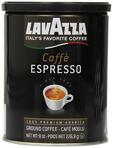 Lavazza Caffe Espresso Ground Coffee, 8-Ounce Cans (Pack of 3)