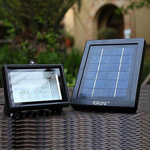 Solar Floodlight; 30 LED Outdoor Security Light; Solar Flood Light Landscape lamp for Lawn, Garden, Road, Hotel,Pool Pond, etc.