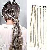 Pinzas para el cabello Cadena de extensión de cabello con borlas Cadena para el cabello, Peluca...