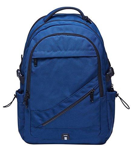 KAUKKO Vintage Canvas Backpack Travel Hiking Satchel Stylish Rucksack with Inner Compartment (Blue-KC03)