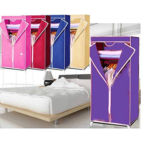EBTOOLS Kleiderschrank, 1 pcs Einzelner Stoffschrank Faltschrank Textilschrank Wäscheschrank mit Kleiderstange, für zu Hause und...
