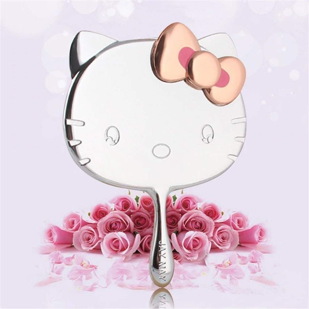 Hello Kitty Metal San Diego Mall Mirror With Leather Makeup Portable Mail order Bag