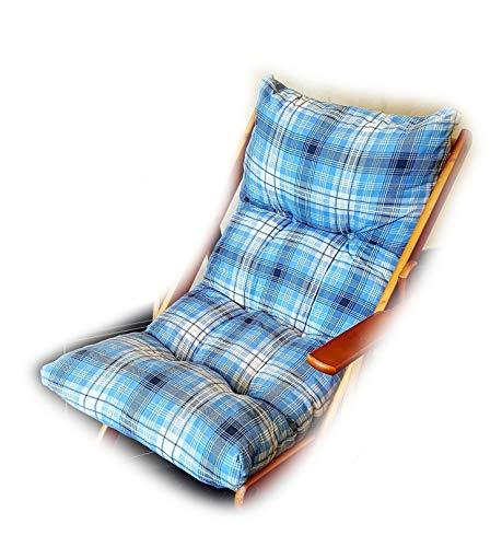 Totò Piccinni Cuscino Imbottito di Ricambio per Poltrona Sedia Sdraio Harmony Relax, 105x55x14cm (Blu)
