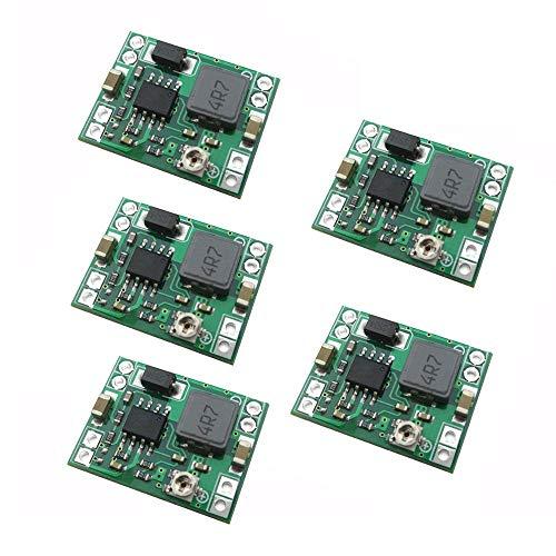 DollaTek 5 st MP1584EN ultra small DC-DC 3 A ström steg-ned justerbar modul bock omvandlare 24 V till 12 V 9 V 5 V 3 V för Arduino