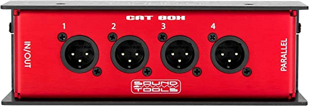 CAT Box MX - Male XLR Stage Box with Audio Over Shielded CAT Cable. Send 4 Channels of Audio, DMX, Clear-Com or AES.