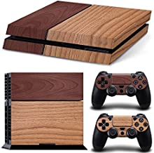 FriendlyTomato PS4 Console and DualShock 4 Controller Skin Set - Wooden Wood Design - PlayStation 4 Vinyl