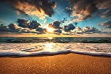 Beautiful Beach Sunrise Over The Sea Landscape Photo Cool Huge Large Giant Poster Art 54x36